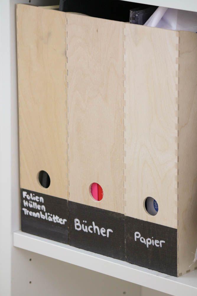Lampe Ikea Qui Change De Couleur ~ Zeitschriftenhalter von IKEA mit Tafellack bemalen und beschriften