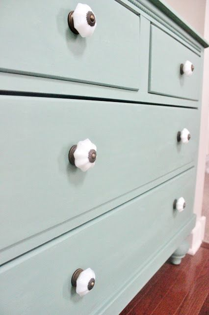 "Painted in ""Eucalyptus""  Martha Stewart's Vintage Decor Chalk Paint"