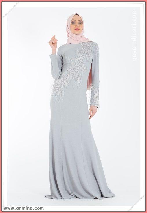 151134134e87f Yeni sezonun en güzel tesettür abiye elbise modelleri bu sezonda sizleri  Armine de bekliyor. Armine 2019 tesettürlü abiye elbise modelleri  tükenmeden sizde ...