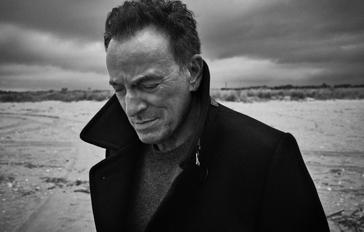 #Photographer Danny Clinch chose Sandy Hook, #NJ as the right location to capture the #cover image of Bruce #Springsteen for the October issue of #Variety #Magazine. / levineleavitt.com / #BruceSpringsteen #blackandwhite #photography #beach #shore #music #celebrity #editorial