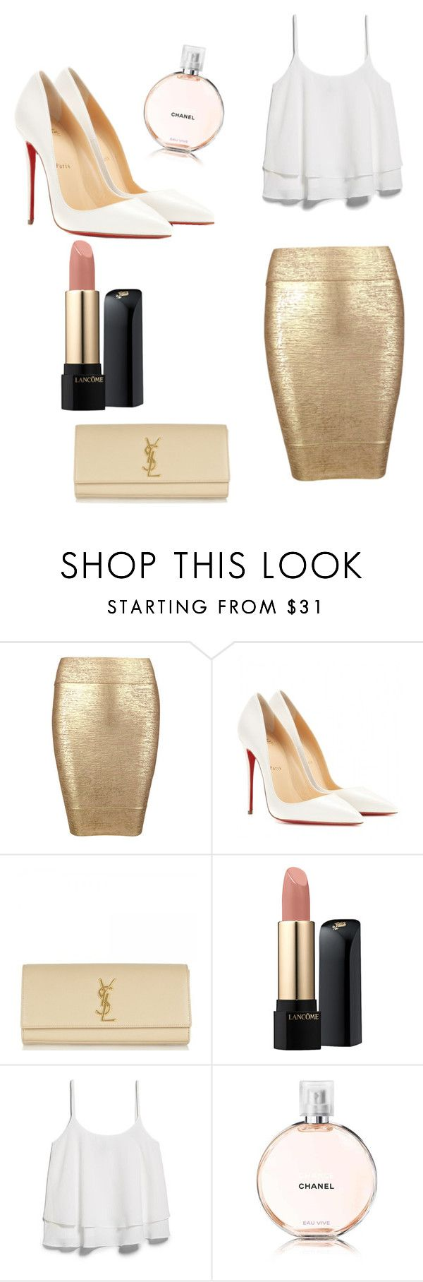 """""""Untitled #4"""" by queenboss01 ❤ liked on Polyvore featuring Posh Girl, Christian Louboutin, Yves Saint Laurent, Lancôme, MANGO, Chanel, women's clothing, women's fashion, women and female"""