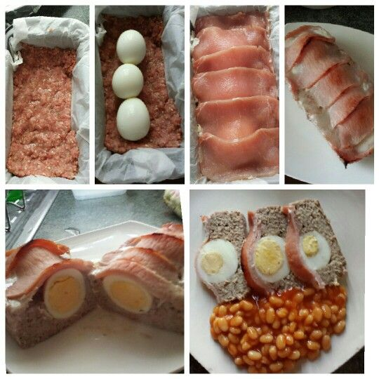 Breakfast loaf syn free- pork mince and herbs to taste, hard boiled eggs sand bacon. Yummy weekend breakfast x