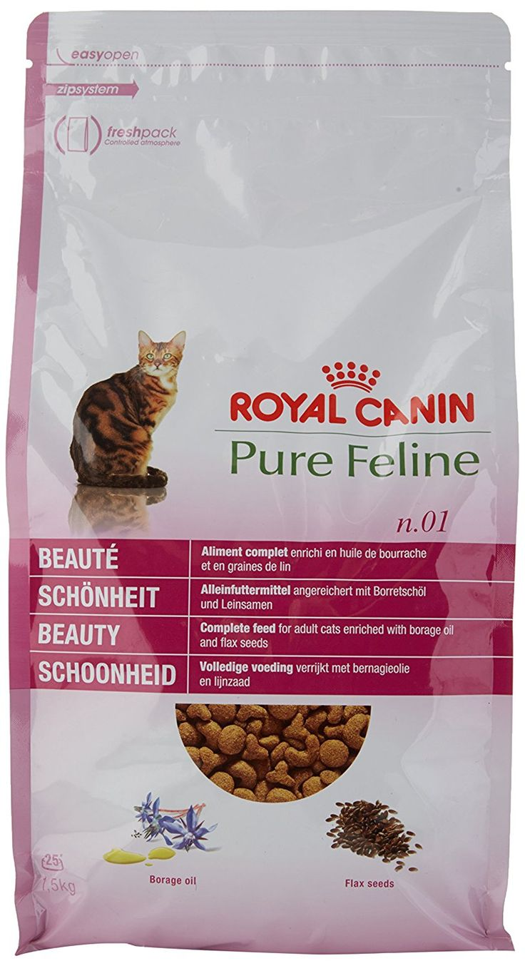 Royal Canin Cat Food Pure No 1 Beauty Dry Mix 1 5kg You Can Find More Details By Visiting The Image Link Catfood Cat Food Pure Products Royal Canin