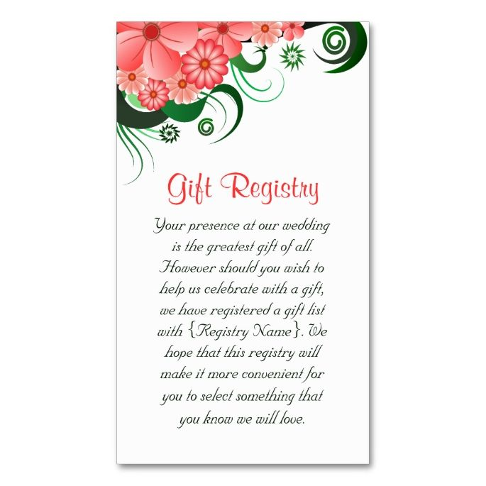 Where Can You Register For Wedding Gifts: 2198 Best Floral Business Card Templates Images On