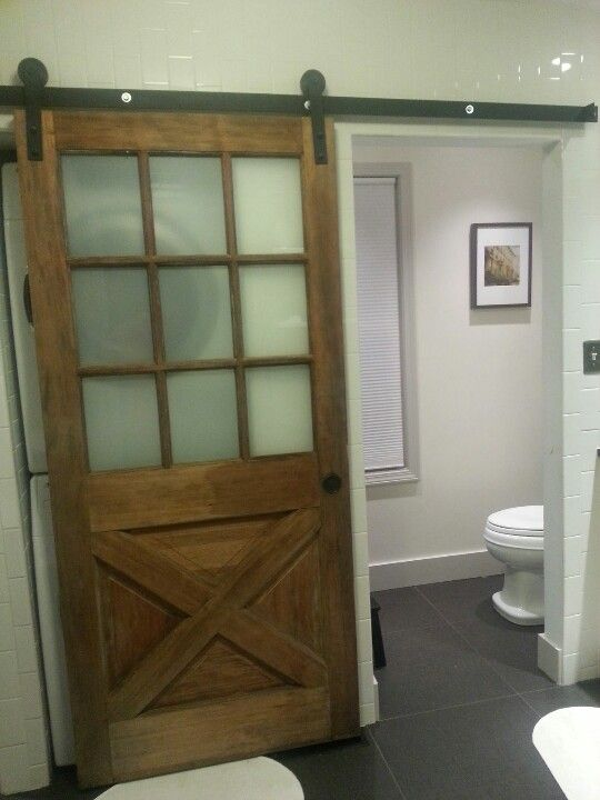 Sliding Door To Half Bath Use Our Old Back Replace Gl With Frosted Seven Oh Baths Doors Bathroom