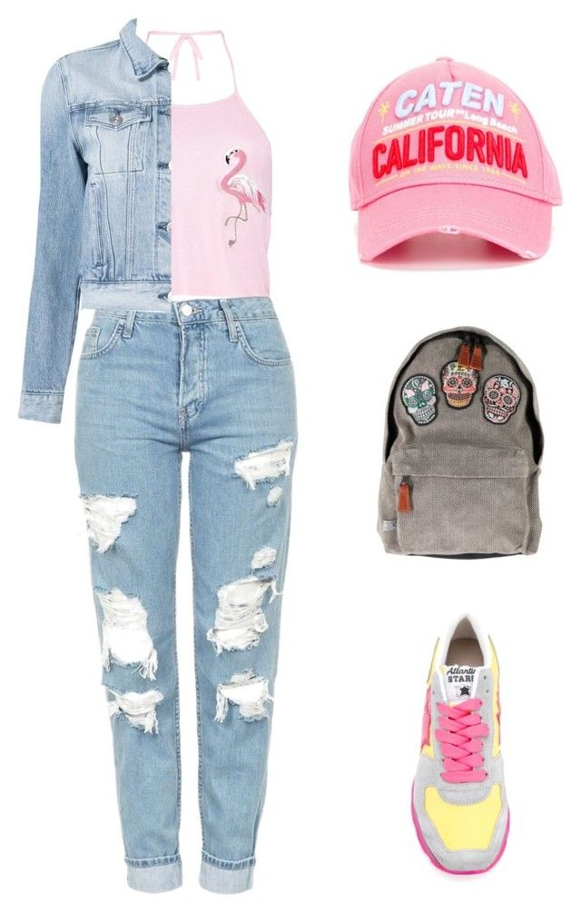 light summer everyday set by justyna-kowalcze on Polyvore featuring moda, Boohoo, 3x1, Topshop, Atlantic Stars and Dsquared2