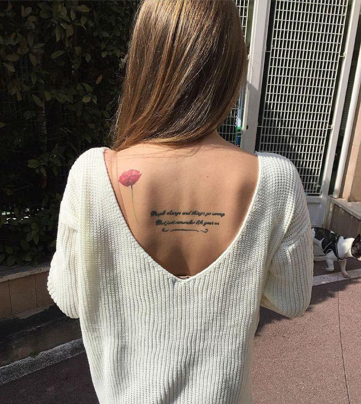 24 Charming Poppy Tattoos