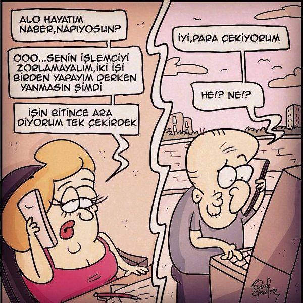 ATM'den Para Çekme Karikatürü - Şeref Efendiler