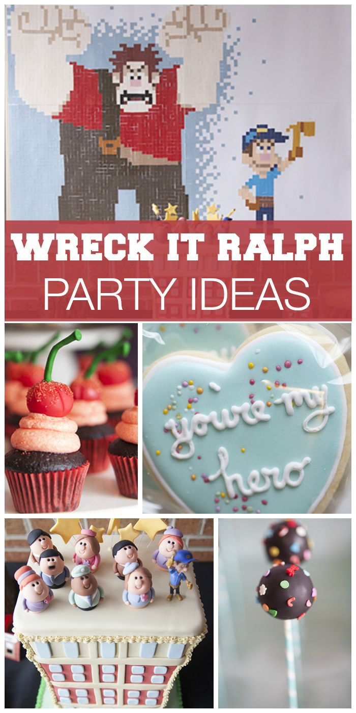 What an amazing Wreck It Ralph party that has so many fun ideas from the movie!  See more party ideas at CatchMyParty.com!