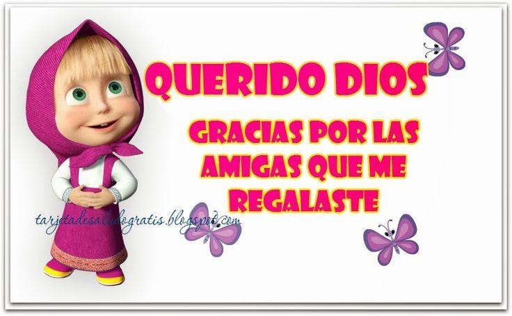 Oración por mis amigas con tarjeta cristiana