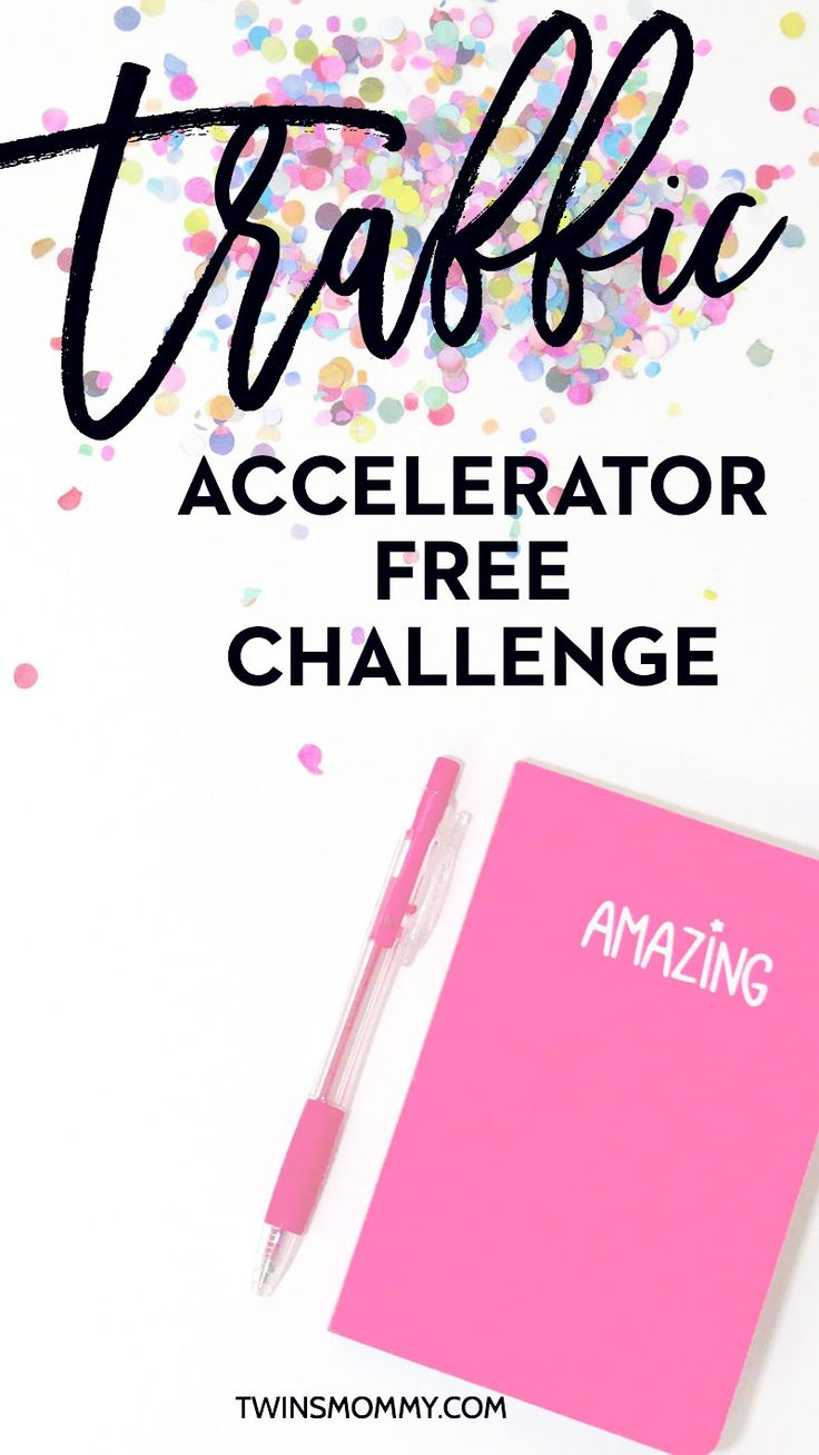 6 Day FREE Traffic Accelerator Challenge Haven't seen any blog traffic increase eh? Growing your blog when you work from home or doing this on a side hustle is a big challenge for mom bloggers and all bloggers. Come and take this awesome free video challenge to help you boost your blog traffic on autopilot! Whether you're a new blogger or not, this challenge is for you!