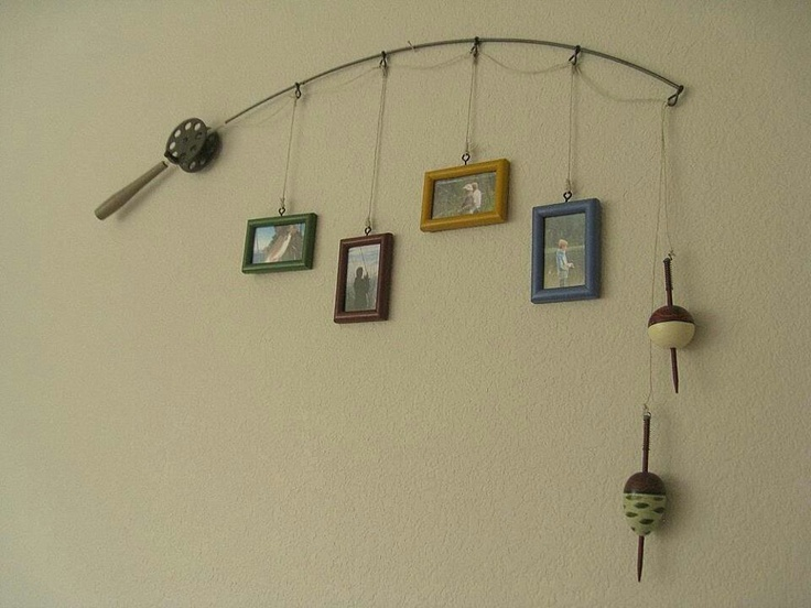 Best 25 fishing pole frame ideas on pinterest fishing for Fishing decor for man cave