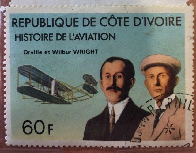 Republique De Cote Divoire 60f. Histoire De Laviation. Wright brothers stamp.   eBay