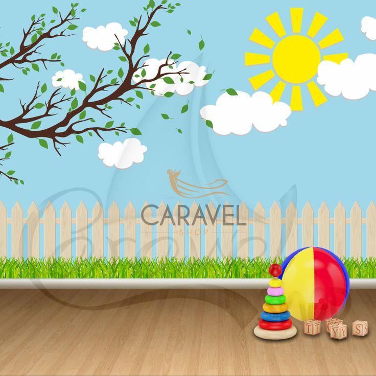 Παιδική Ταπετσαρία τοίχου με φράχτη