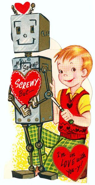 Vintage Valentine: A Valentine for Susan Calvin by pageofbats, via Flickr