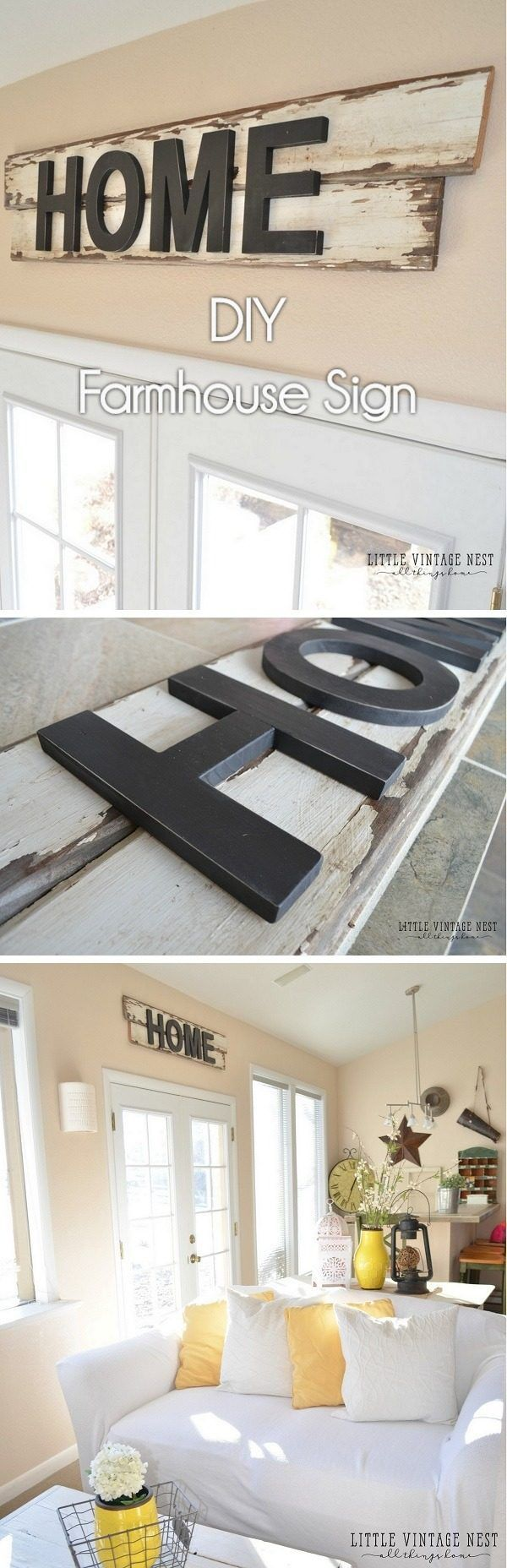Check out how to make your own easy #DIY #farmhouse sign #HomeDecorIdeas @istandarddesign