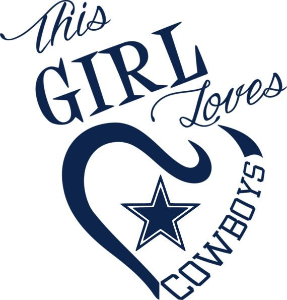 This Girl Loves Dallas Cowboys SVG File