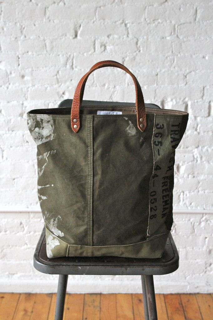 WWII era Canvas Tote Bag // Forestbound