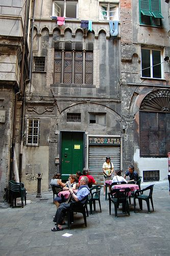Piazza delle Cinque Lampade, Genova, Liguria Italy