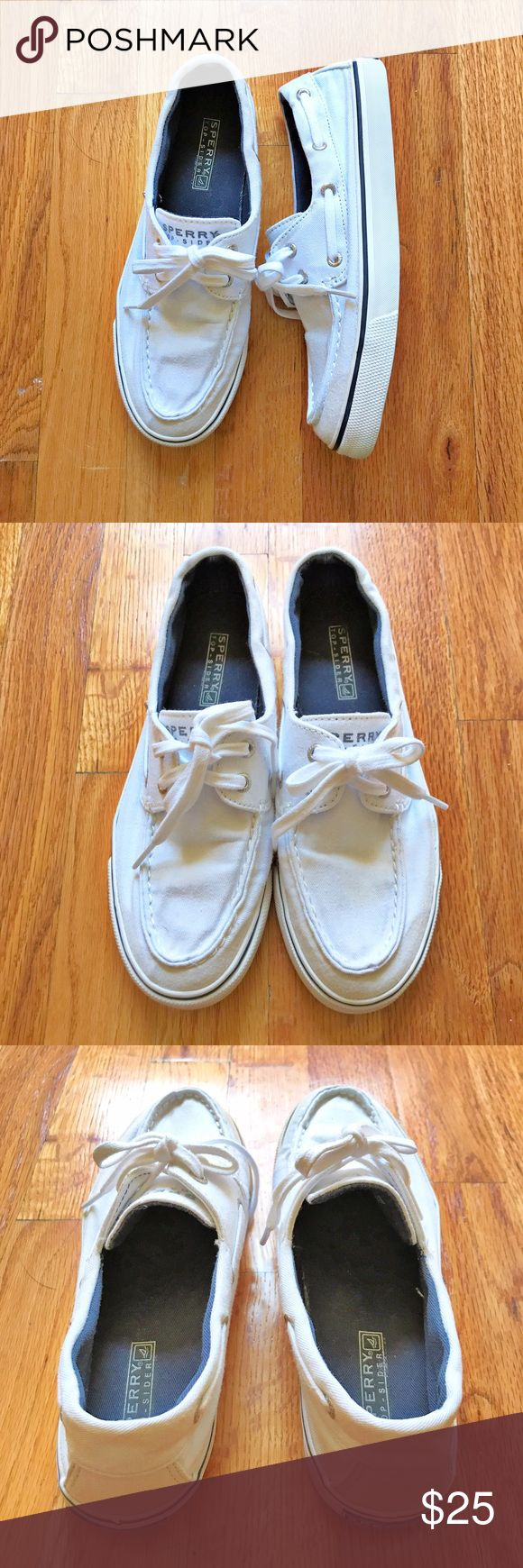 Sperry Top-Sider White shoes Excellent condition white Sperry Top-Sider shoes. Sperry Top-Sider Shoes Flats & Loafers