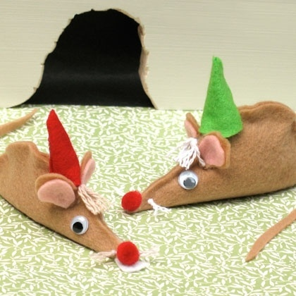 Cinderella Princess Craft Furry Felt Mice