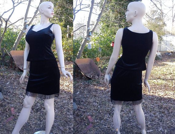 80s Skirt & Top Set by Cache Seed Pearls and by gottagovintage1, $38.00 a nice little twist on the little black dress!