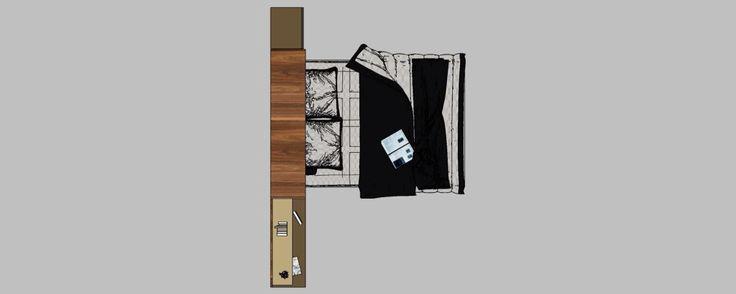 Amenajare garsoniera mobilier camera deschis vedere de sus