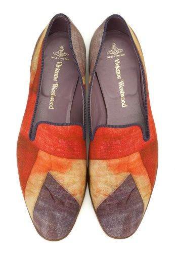 Vivienne Westwood - fabulous Union Jack slippers. Old time and tradition is good.
