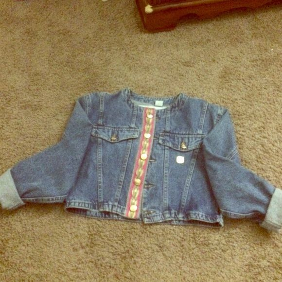 MCM 1900 Denim Jean jacket. MCM Denim above the belly botton jacket! Good condition! Don't really wear it anymore. MCM Jackets & Coats Jean Jackets