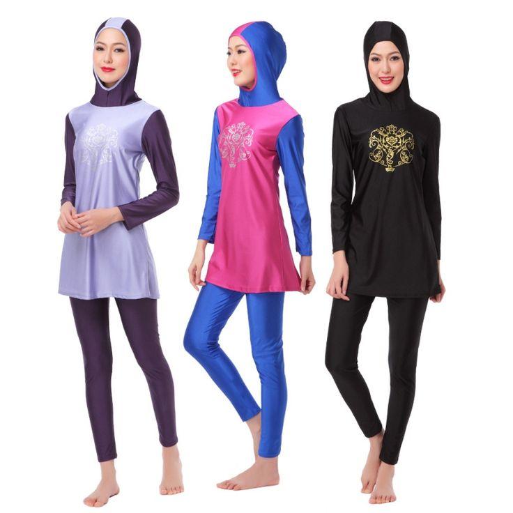 >> Click to Buy << Islamic Swimwear Islamic Swimsuit Women hijab full coverage swimwear muslim swimming beachwear #Affiliate