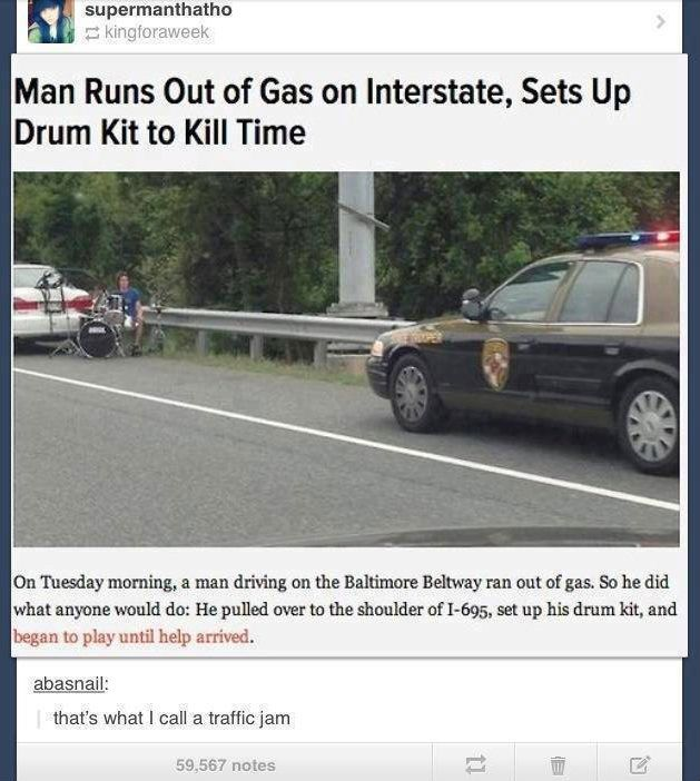 Now thats what I call a traffic jam - and other humorous things