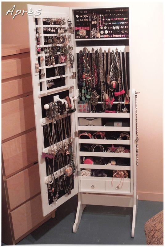 les 25 meilleures id es concernant armoire bijoux sur pinterest stockage des bijoux cach s. Black Bedroom Furniture Sets. Home Design Ideas
