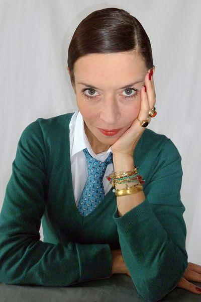 Emmanuelle Zysman - now jewelry designer. Rue des Martyrs