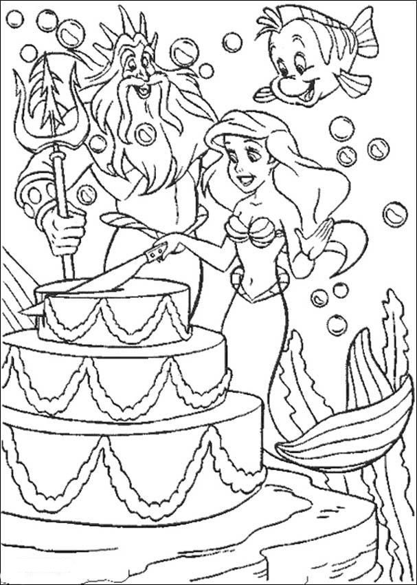 Birthday Cake Coloring Pages Free Mermaid Coloring Pages Happy Birthday Coloring Pages Birthday Coloring Pages