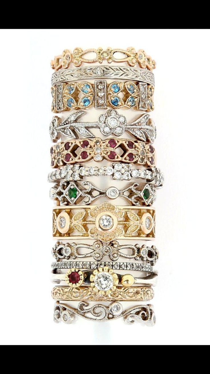 start collecting your stack rings now -available in any metal or stones