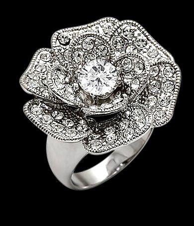 Rose Shaped Diamond engagement ring - My Engagement Ring