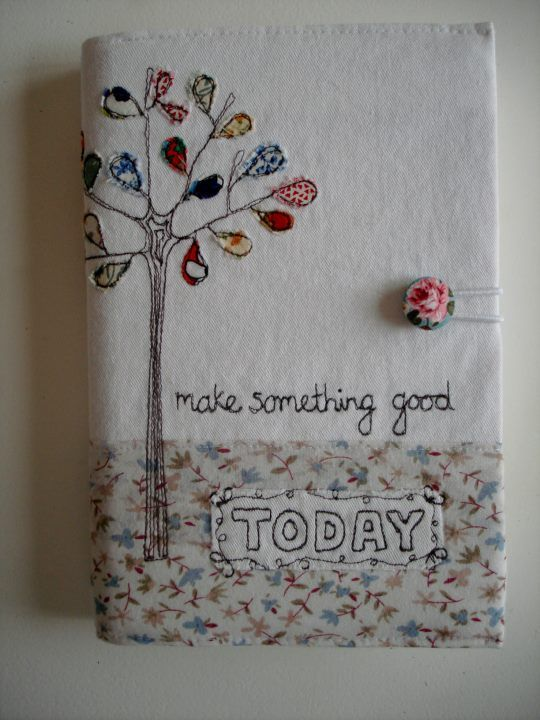 This would make a nice needle case, or even a pretty diary cover.