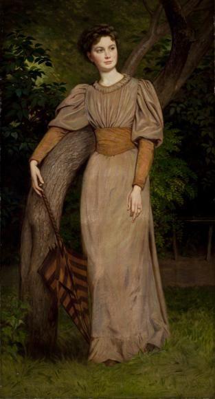 ab. 1880 Bertalan Székely - Portrait of Zseni Székely - http://history-of-fashion.tumblr.com