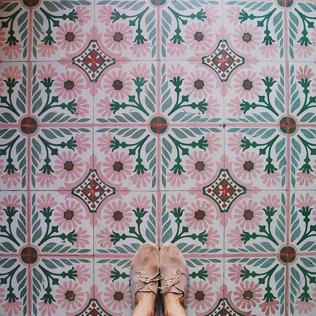 I love colorful floor tile like this.