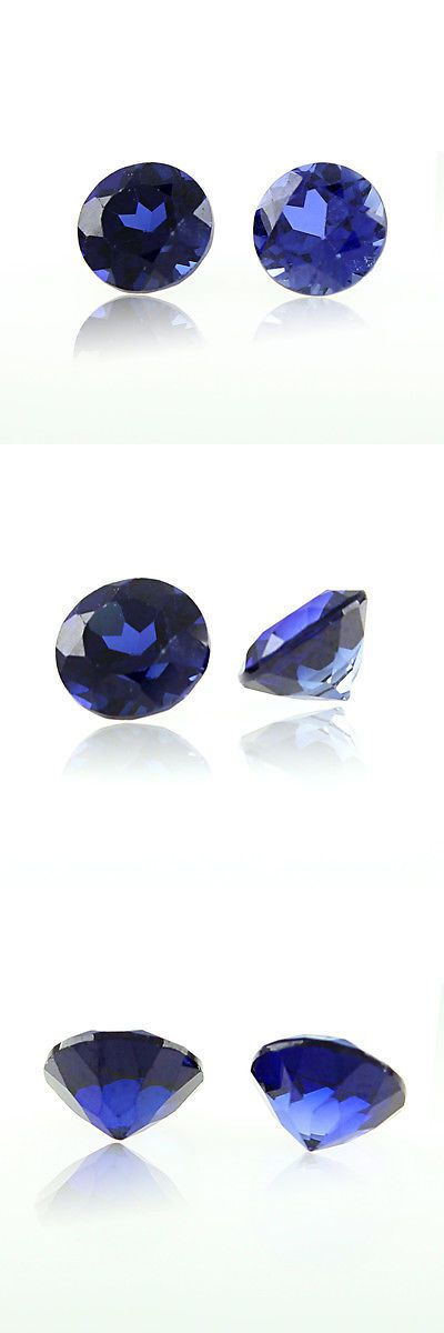 Lab-Created Sapphires 122958: 0.3Ct Blue Sapphire Lab Created Round Cut Loose Gemstone Jewelry New BUY IT NOW ONLY: $44.98