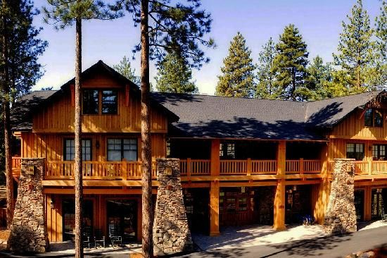 Five Pine Lodge Spa in Central Oregon - sunken tubs next to fireplaces in the cabins!