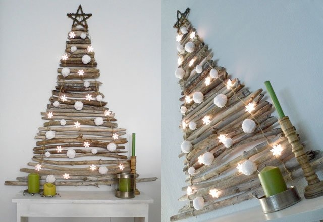 Christmas Tree Wall Art Made Out Of Sticks Tree Interiors Inside Ideas Interiors design about Everything [magnanprojects.com]