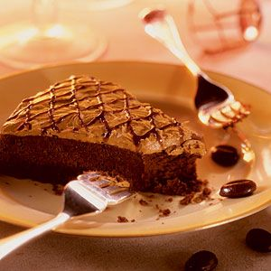 Chocolate espresso brownie cake