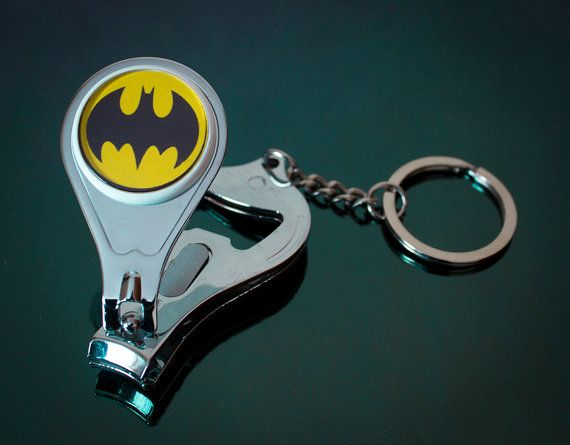 Batman 3 in 1 Key Chain Nail clippers and by UnofficiallyOriginal