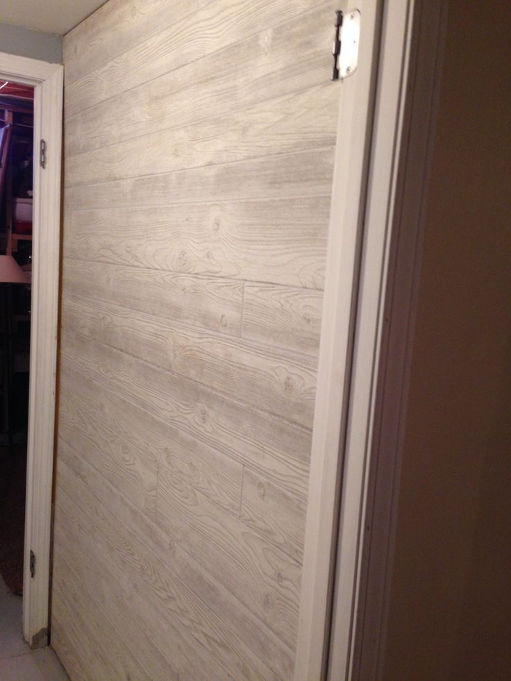 """Basement Wood Paneling: Paneling Turned Sideways As A """"wood"""" Accent Wall"""