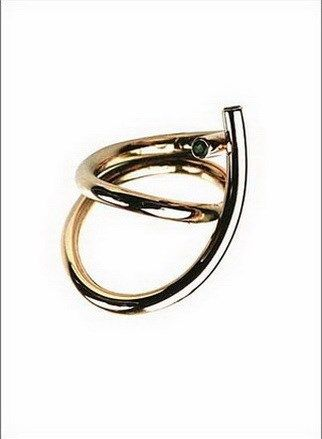 """""""DOUBLE RING"""" - rødt guld og smaragder"""