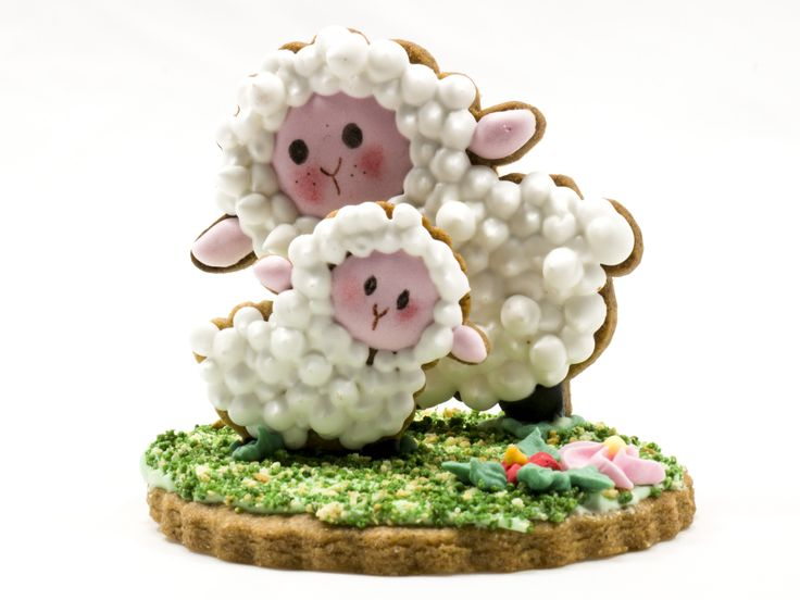 Lovely sheep for spring cookies