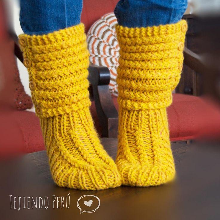 Tejer paso a paso: botas de casa tejidas en dos agujas o palitos... video tutorial del paso a paso!