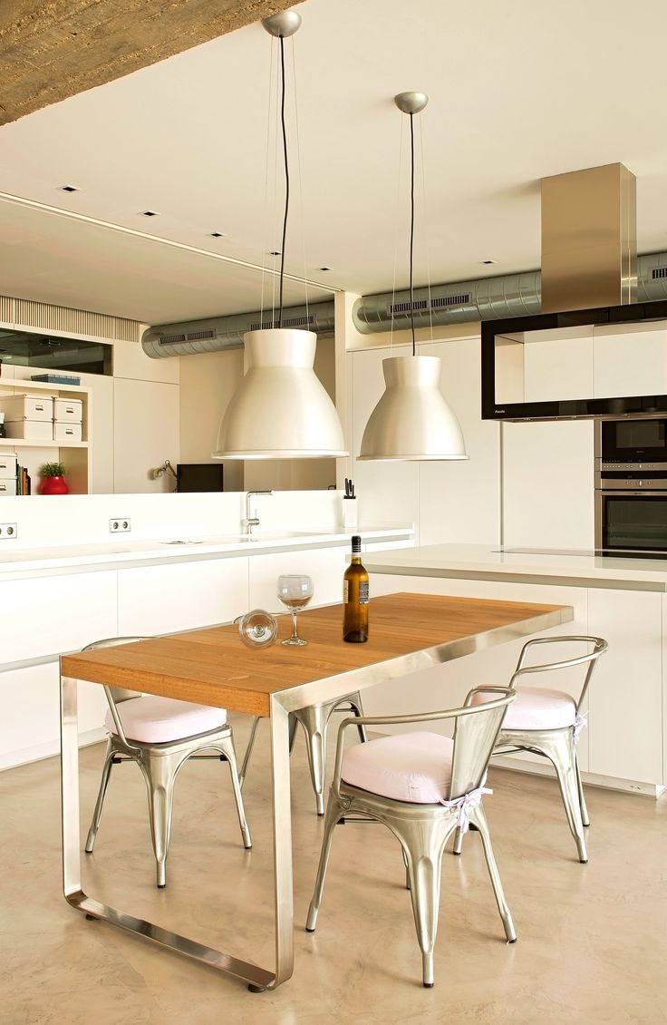 Comedor estudio cocina moderno decoracion via for Mobiliario para comedor