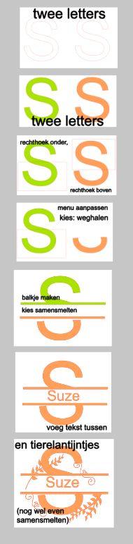 Hoe maak je een split letter met de Silhouette Cameo Studio software. Nederlandse uitleg, tutorial